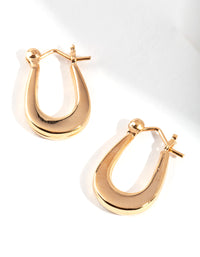 Gold Plated Sterling Silver Oval Hoop Earring - link has visual effect only