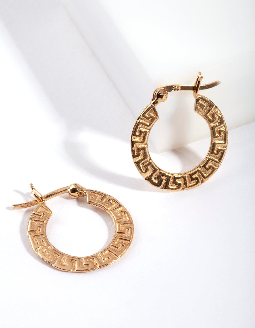 Gold Plated Sterling Silver Maze Hoop Earring