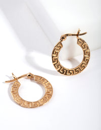 Gold Plated Sterling Silver Maze Hoop Earring - link has visual effect only