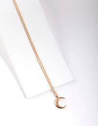 Gold Plated Sterling Silver Crescent Moon Necklace - link has visual effect only