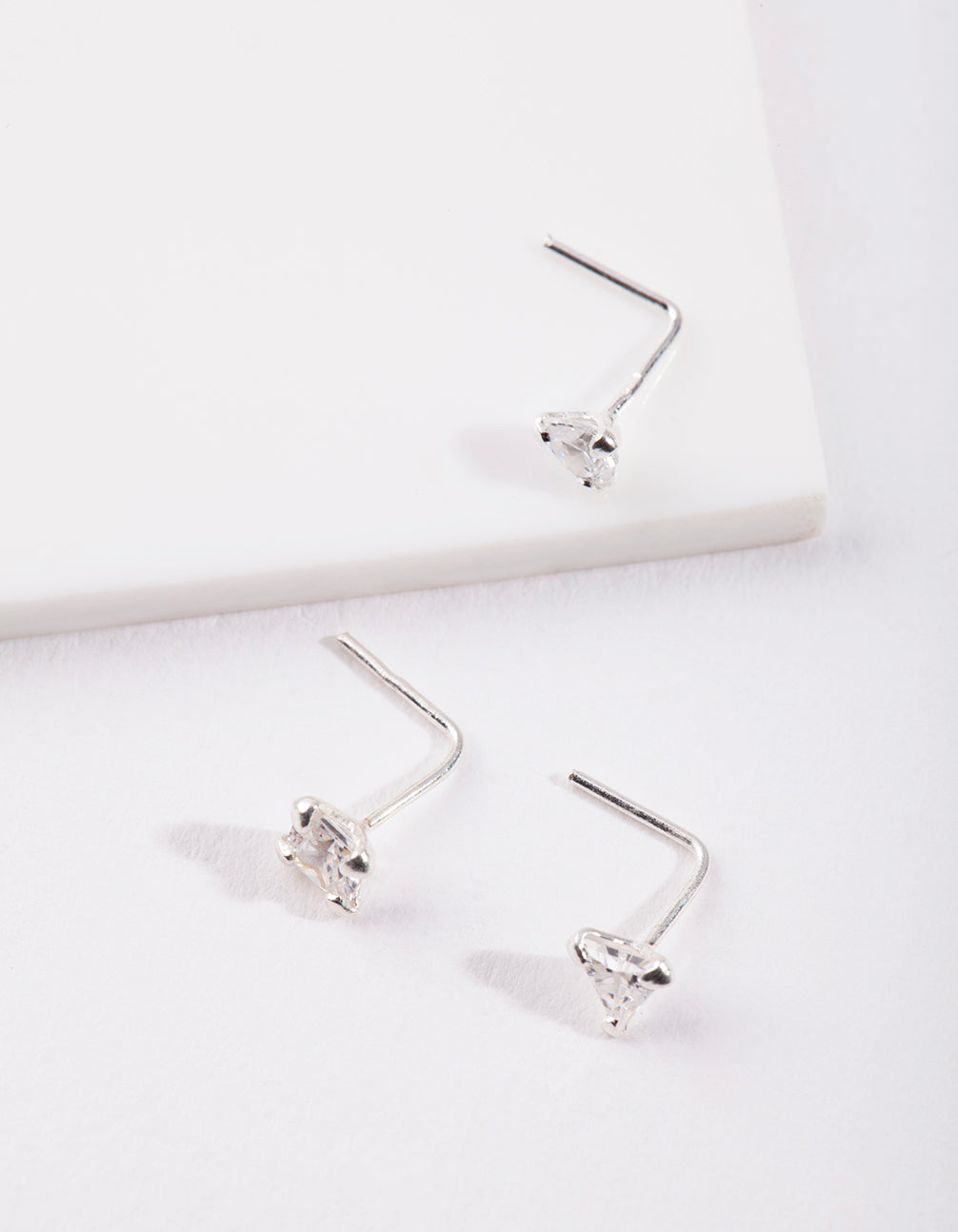 Sterling Silver Cubic Zirconia Nose Stud Pack