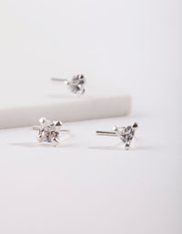 Sterling Silver Cubic Zirconia Nose Stud Pack - link has visual effect only