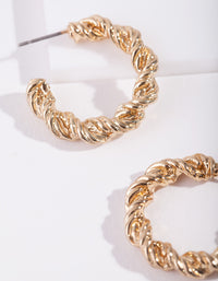 Real Gold Plated Hoop Earring - link has visual effect only