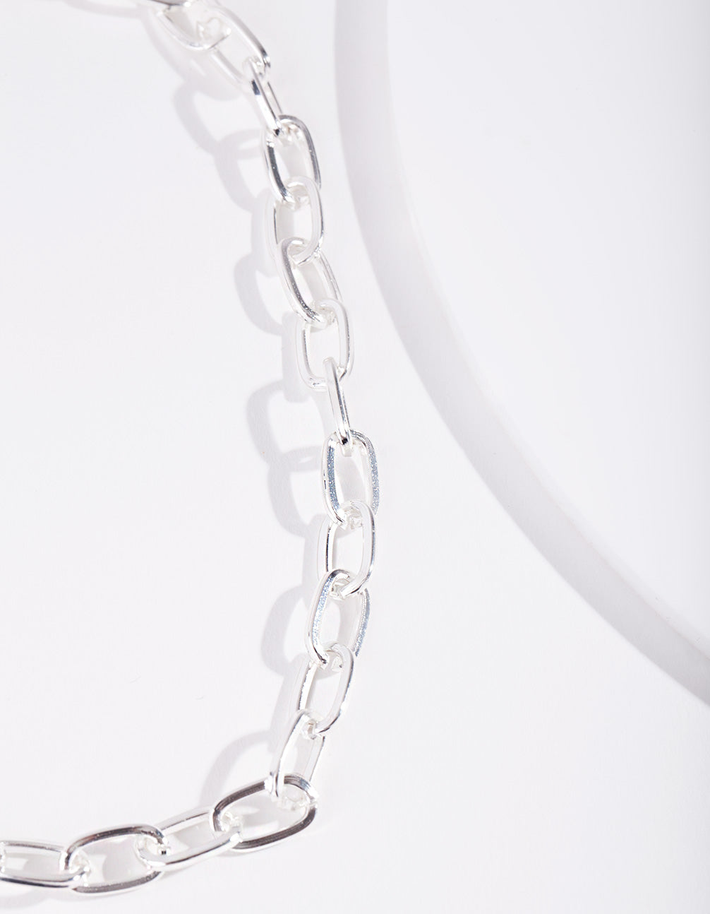 Real Silver Plated Chain Choker