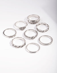 Antique Silver Symbol Ring Pack - link has visual effect only