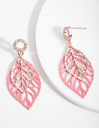 Pink Drop Earrings - link has visual effect only