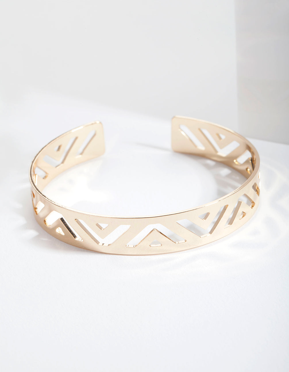Gold Triangle Cut-Out Bangle