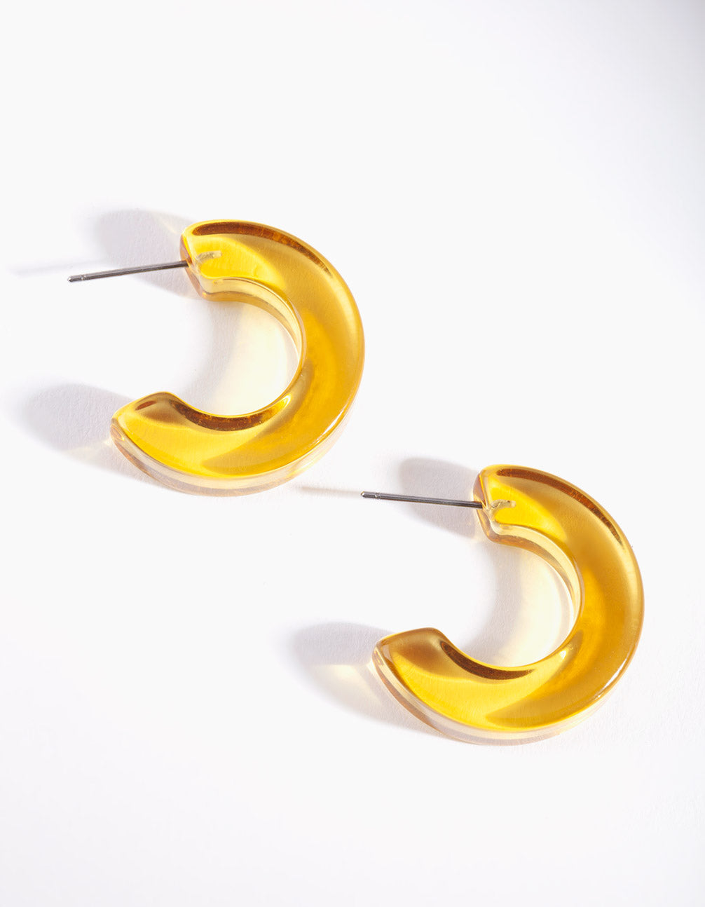 Yellow Clear Hoop Earring
