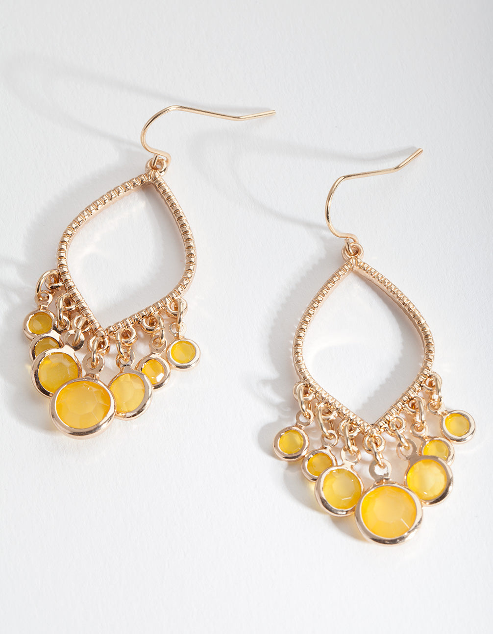 Gold Yellow Sun Drop Earring