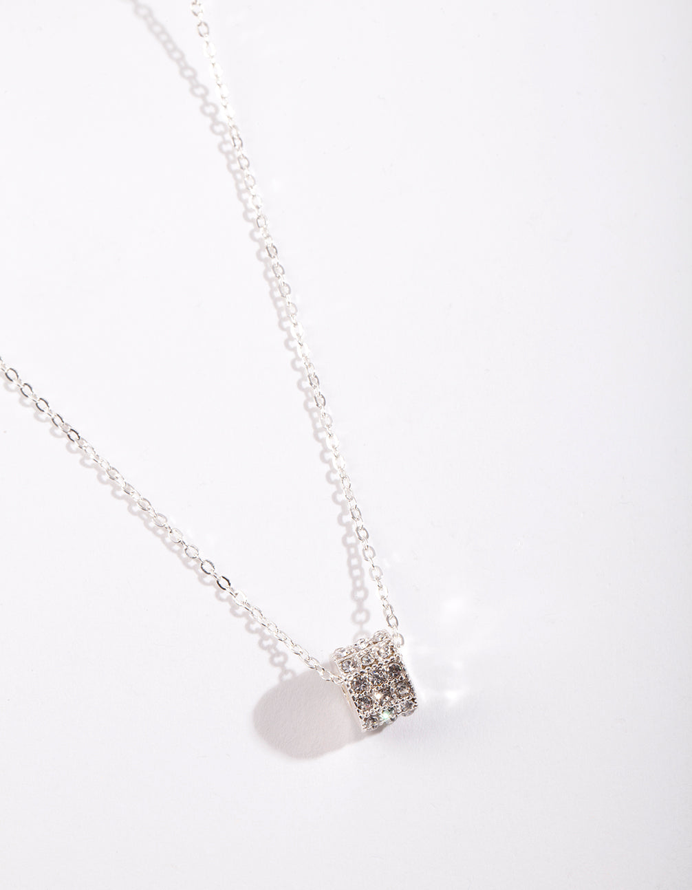 Silver Diamante Ring Necklace