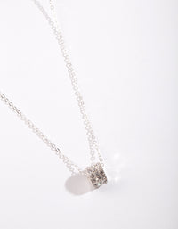 Silver Diamante Ring Necklace - link has visual effect only