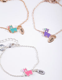 Kids Mixed Metal Llama Bracelet 3 Pack - link has visual effect only