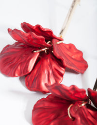 Red Petal Drop Earrings - link has visual effect only