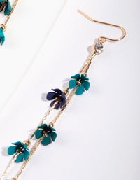 Green Mini Flower Coated Earring - link has visual effect only