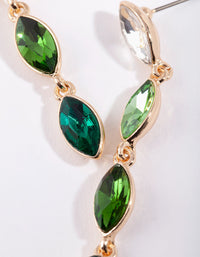 Deep Green Stone Drop Earring - link has visual effect only