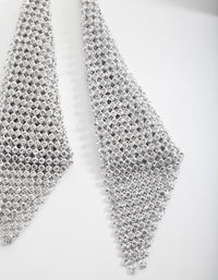 Silver Diamante Mesh Statement Earrings - link has visual effect only