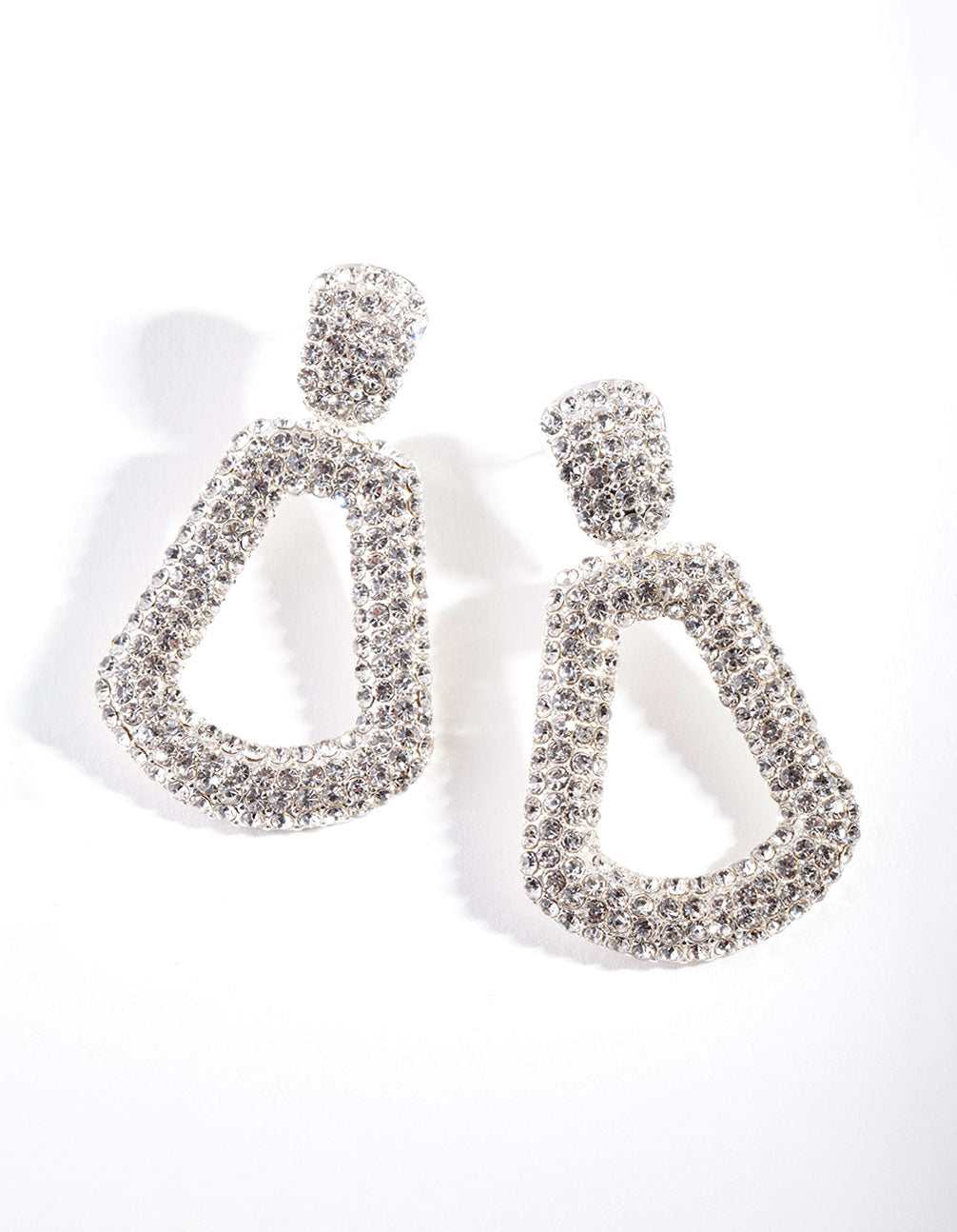 Diamante Mini Doorknocker Earrings