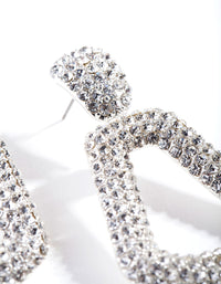 Diamante Mini Doorknocker Earrings - link has visual effect only
