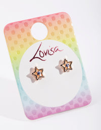 Kids Purple Diamante Star Earring - link has visual effect only