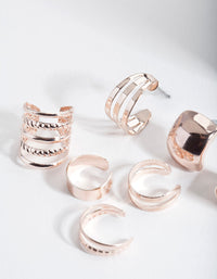 Rose Gold Textured Ear Cuff Pack - link has visual effect only