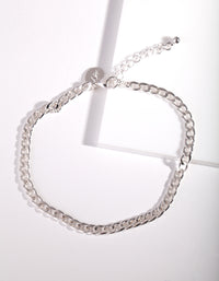 Silver Chunky Chain Anklet - link has visual effect only