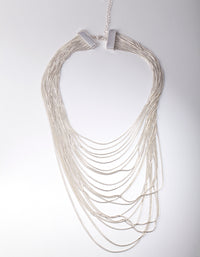 Silver Drape Chain Necklace - link has visual effect only