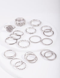 Rhodium Texture 21x12-Pack Rings - link has visual effect only