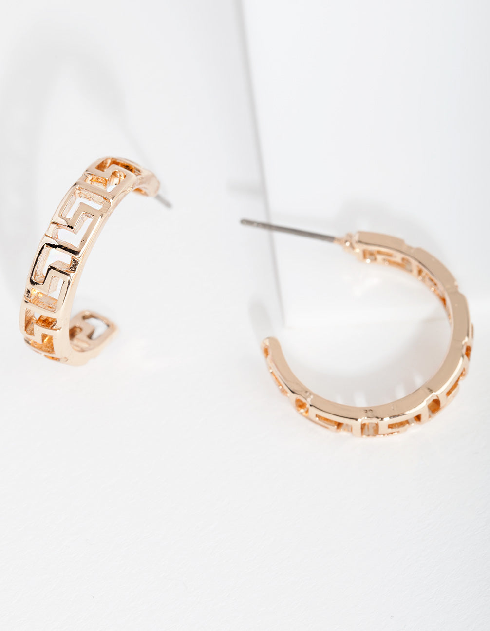 Gold Key Hoop Earring