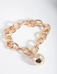 Gold Chain Diamante Ball Bracelet - link has visual effect only