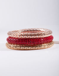 Red Stretch Bracelet 3 Pack - link has visual effect only