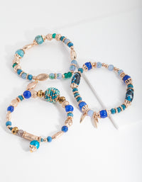 Blue Stretch Mixed Bangle Pack - link has visual effect only