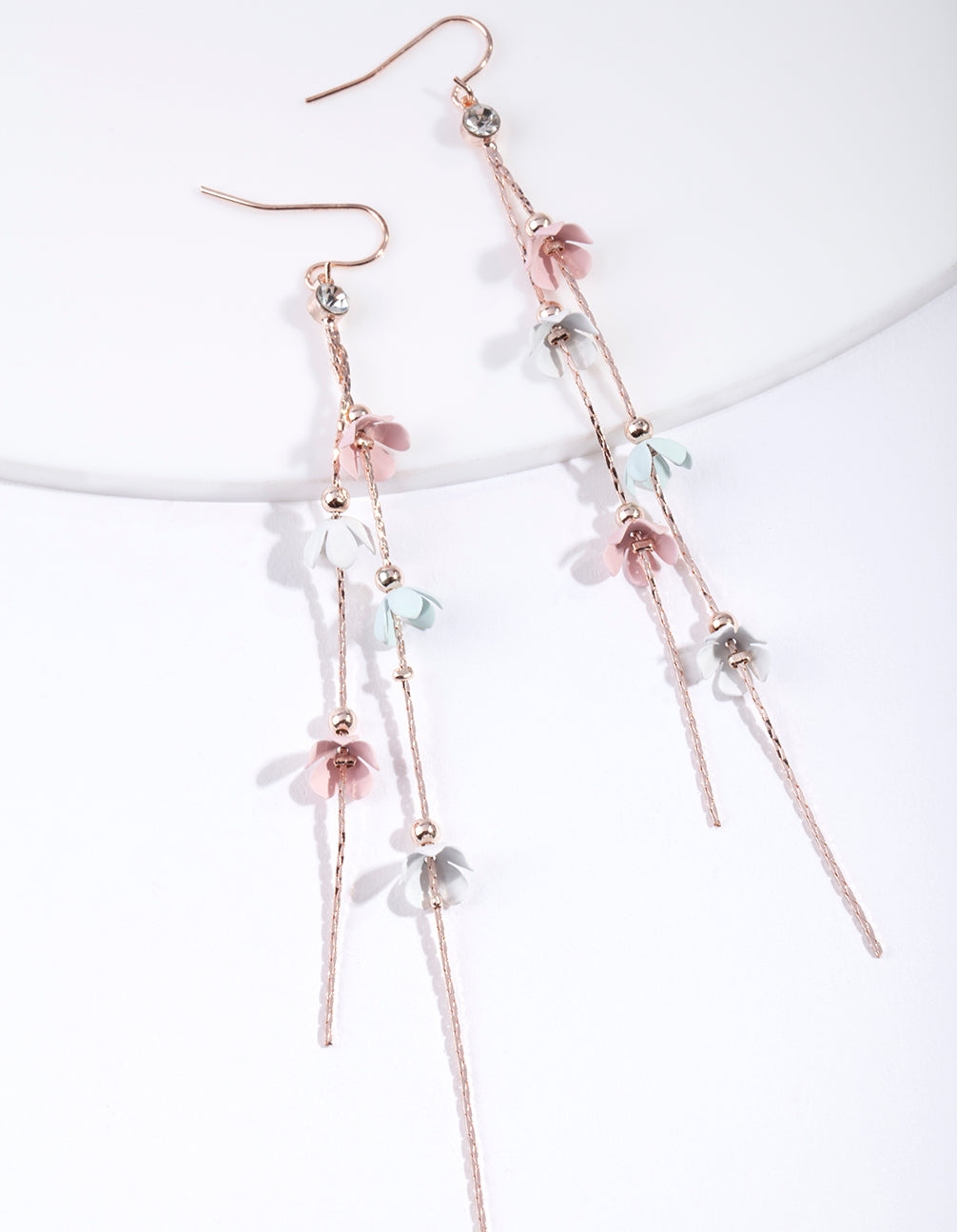 Mixed Pastel Flower Earrings