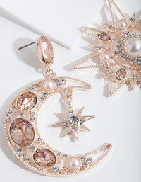 Rose Gold Statement Celestial Earring - link has visual effect only