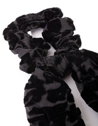 Black Velvet Scarf Scrunchie - link has visual effect only