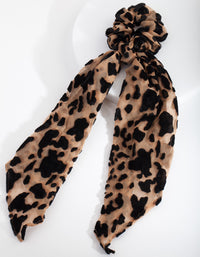 Brown Leopard Scrunchie Scarf - link has visual effect only