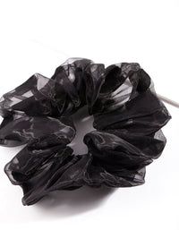 Black Organza Scrunchie - link has visual effect only