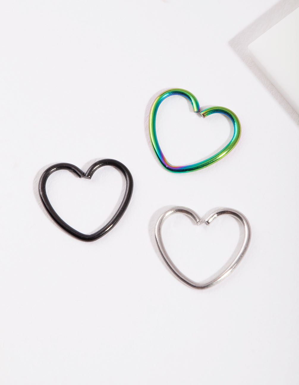 Mixed Metal Heart Earring 3 Pack