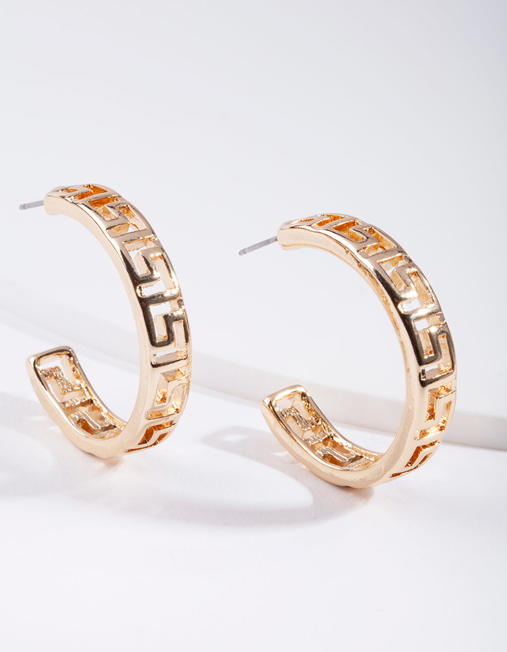 Gold Cut-Out Hoop Earring