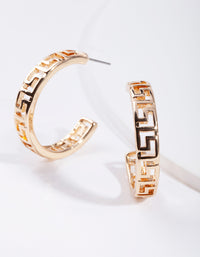 Gold Cut-Out Hoop Earring - link has visual effect only