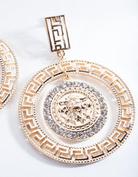 Gold Goddess Statement Earrings - link has visual effect only