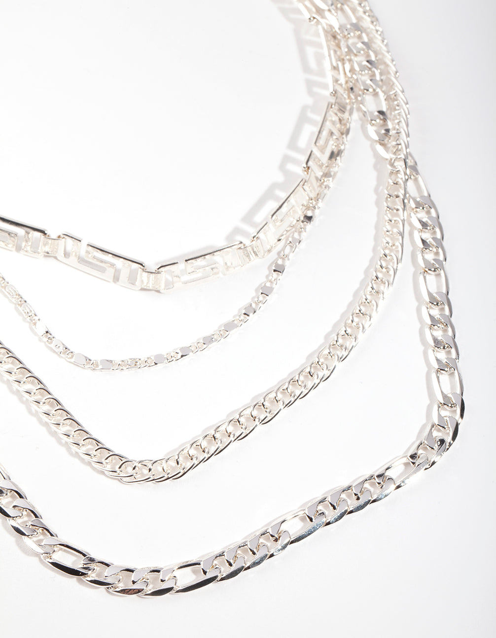 Silver Cut-Out Choker Layer Necklace