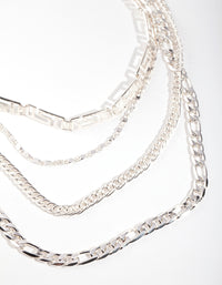 Silver Cut-Out Choker Layer Necklace - link has visual effect only