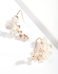 Gold Flower Crawler Earring - link has visual effect only