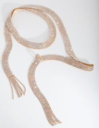 Gold Diamante Tassel Scarf - link has visual effect only