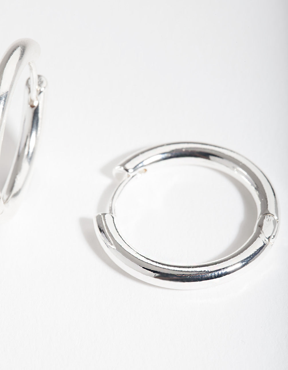 Silver 20mm Small Polished Hoop Earring