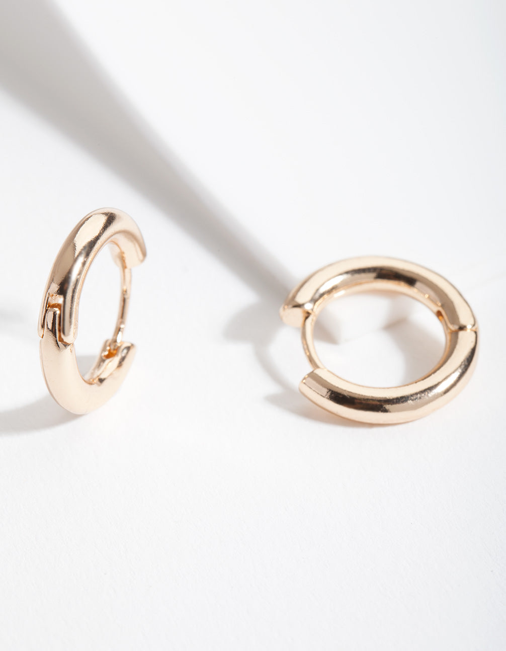 Gold 20mm Small Polished Hoop Earring
