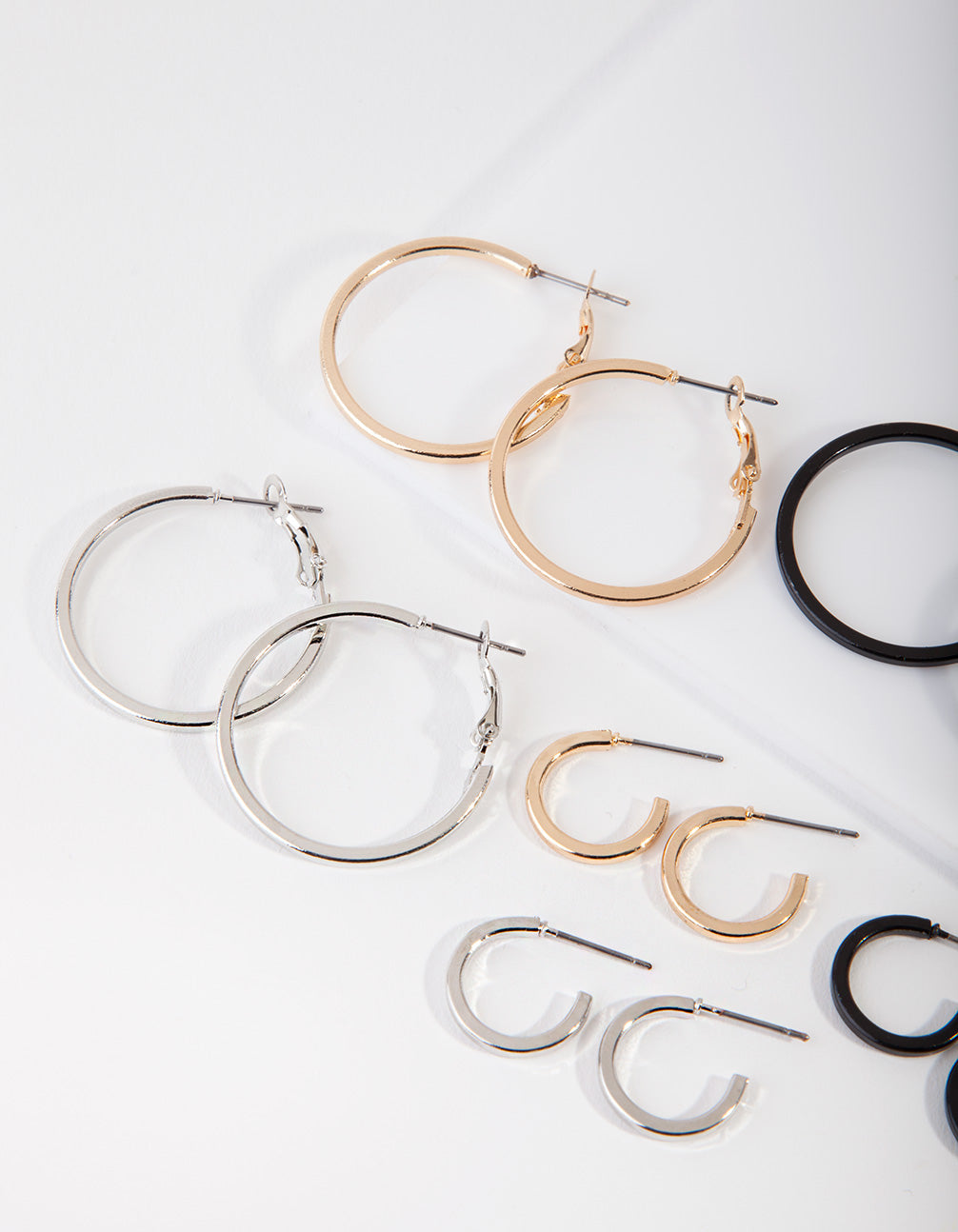 Mixed Metal Small and Large Hoop Pack