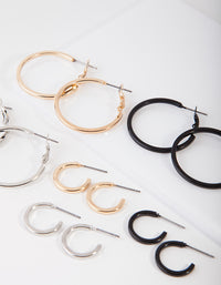 Mixed Metal Small and Large Hoop Pack - link has visual effect only