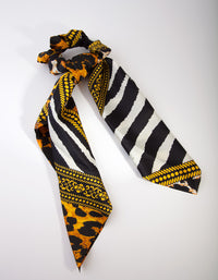 Mix Animal Print Scrunchie Scarf - link has visual effect only