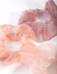 Pink Organza Scrunchie 3 Pack - link has visual effect only